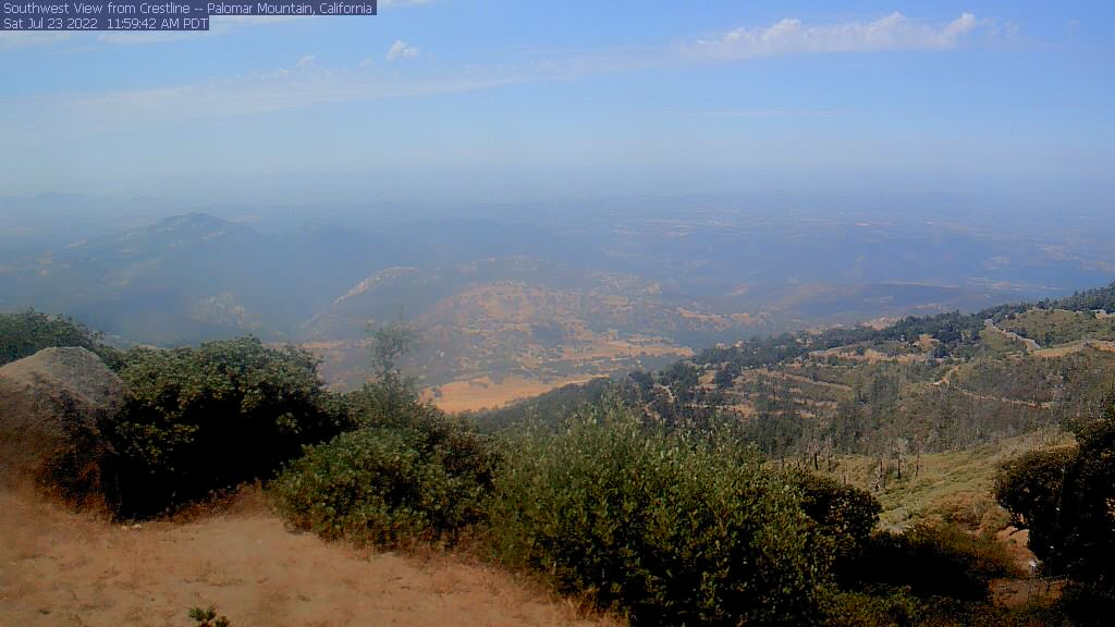 Palomar Mountain 5582ft, over looking Pauma Valley, with views to the ocean on clear days!
